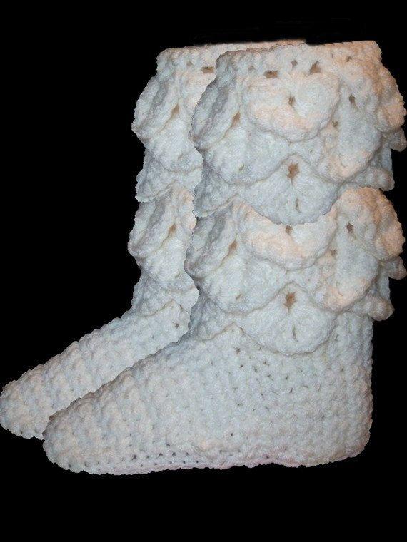 Crochet Boots Pattern--------CROCODILE STITCH BOOTS ...