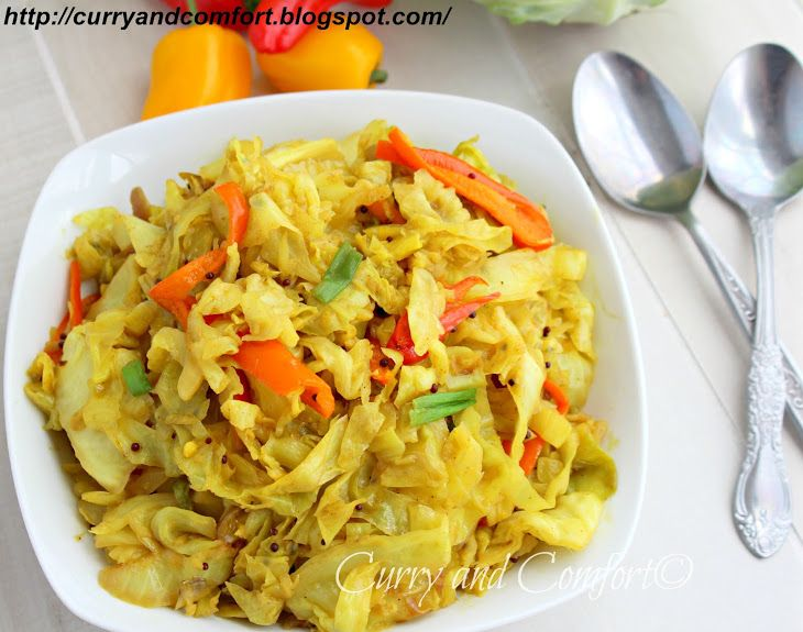 Sweet and Sour Cabbage Curry Stir Fry (Throwback Thursday) Recipe Main ...