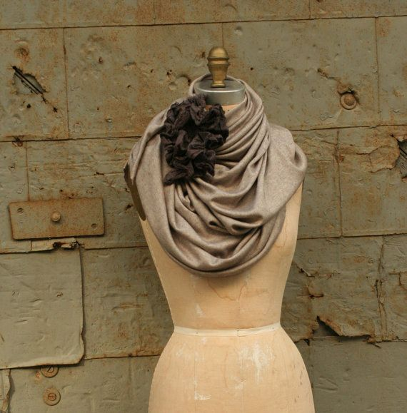 Autumn Scarf Shawl artlab No. 2 by artlab #Scarf #Shawl #Autumn #Winter #fall #etsy #gray #grey #handmade #artlab $120.00