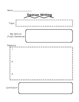Opinion writing graphic organizer free writing pinterest
