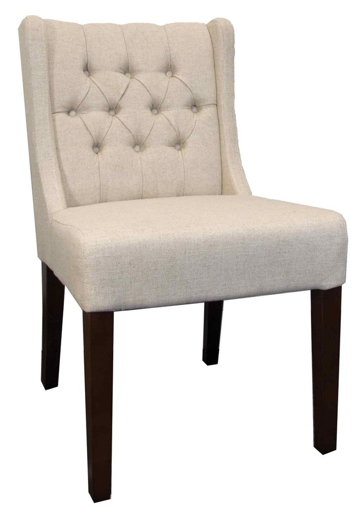 Low back tufted dining chair chairs by lh imports for Long back dining chairs