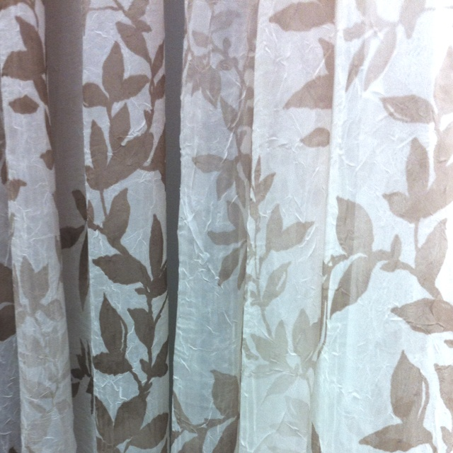 Sheer Curtains With Leaf Pattern