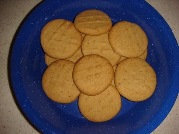 Low Fat Peanut Butter Cookie recipe--really good! I add dark chocolate ...