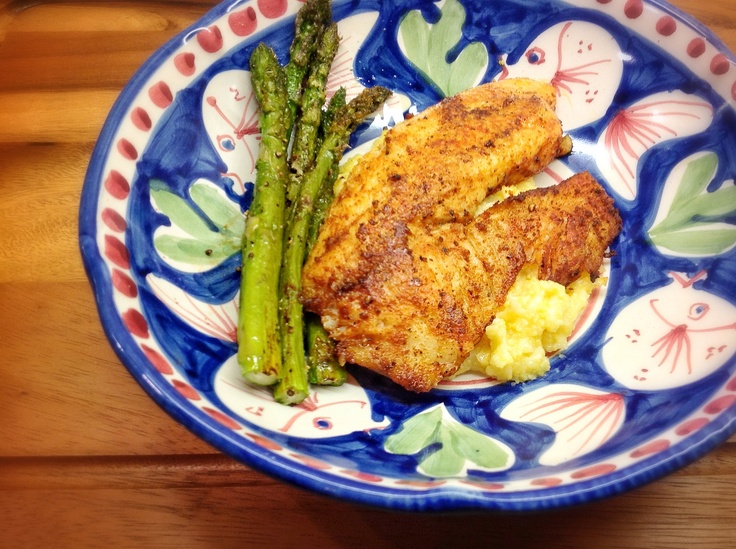 Grilled Tilapia with Smoked Paprika and Parmesan Polenta :: ellie ...