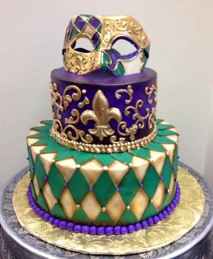 Beautiful Mardi Gras cake. CAKE IDEAS Pinterest