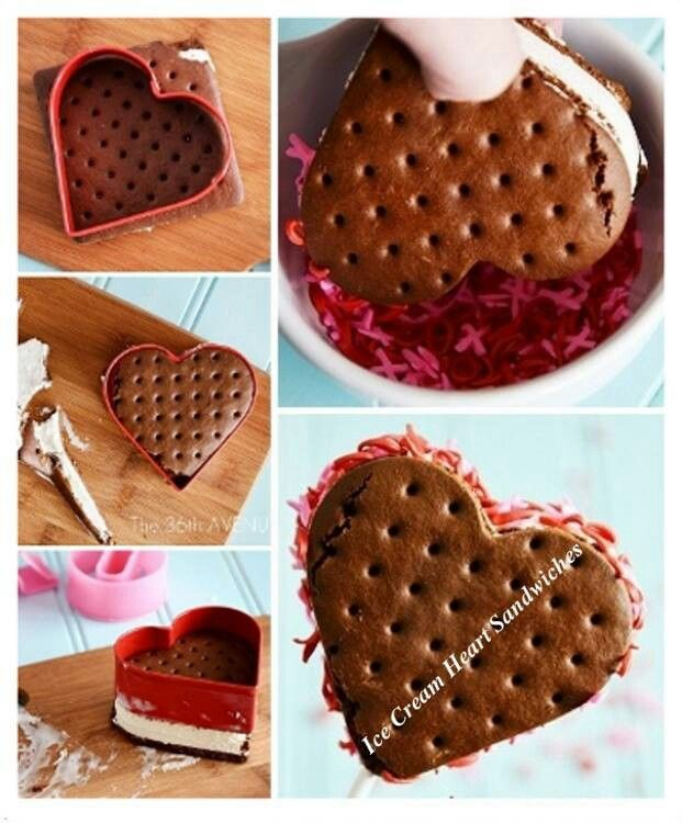 Valentine's ice cream sandwiches-cute! | Holidays | Pinterest