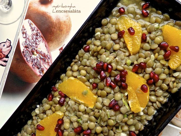 Lentil salad with orange slices and pomegranate seeds Happy New Year ...