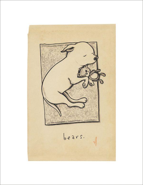 "so, so, so, so so sweet!  Kurt Halsey ""Bears"" Print   Art Star"