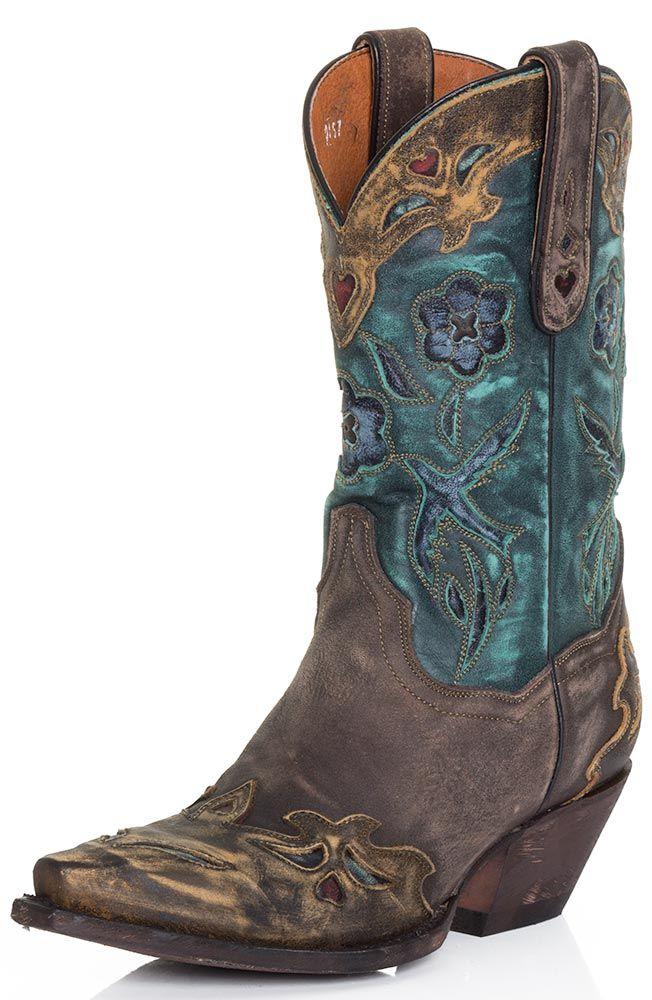 Unique Dan Post Vintage Arrow Western Boot For Women  Weoee Fashion
