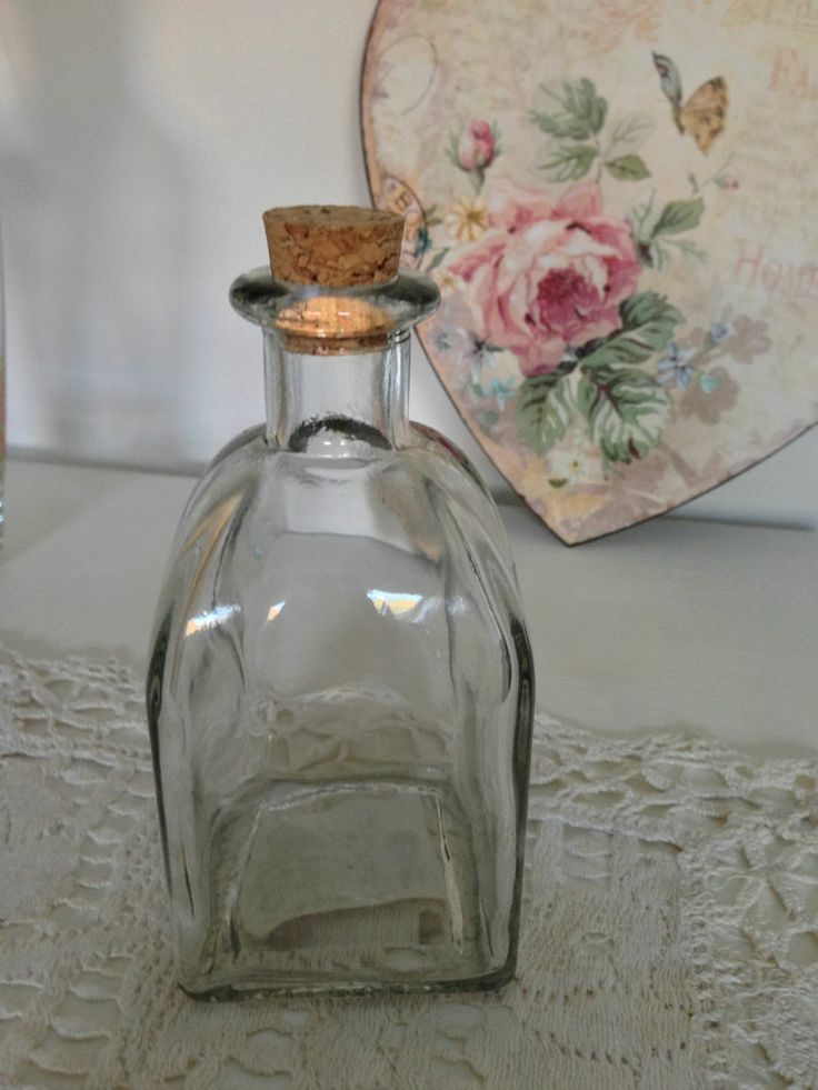 12 x new small glass bottles vintage wedding favours for Wedding table favours