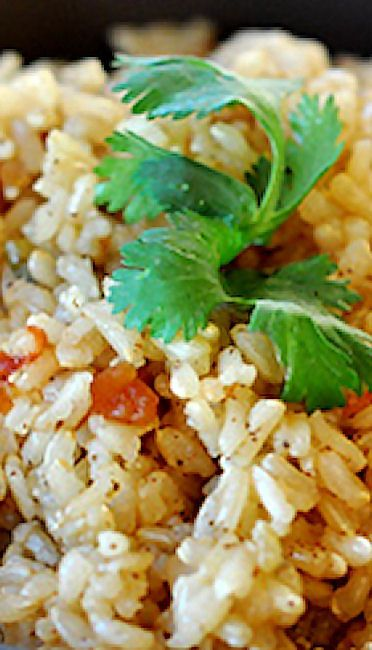 Baked Brown Spanish Rice | Recipe