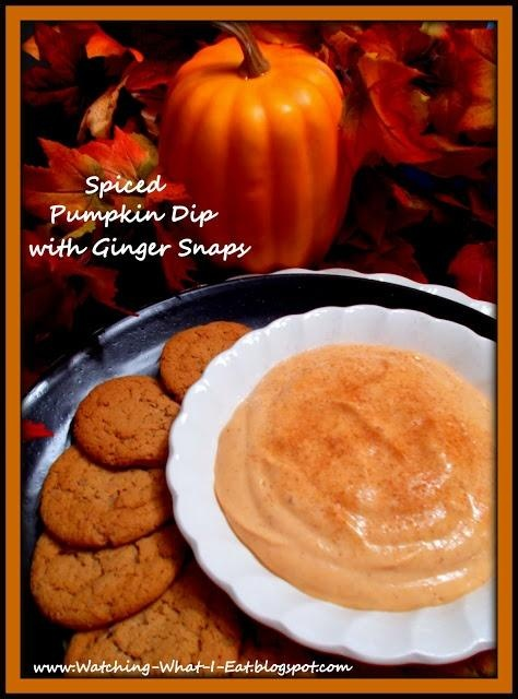 Spiced Pumpkin Dip with Ginger Snaps | Deliciousness | Pinterest