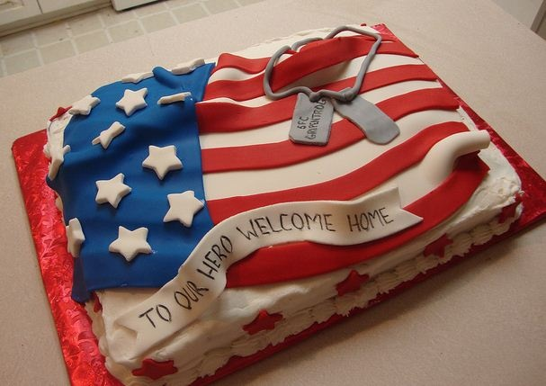 Cake Designs Usa : USA Flag Deployment Cake Parties for the Young at Heart ...