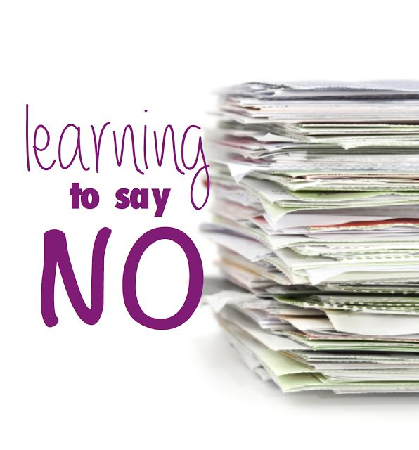 2014 - learning to say no
