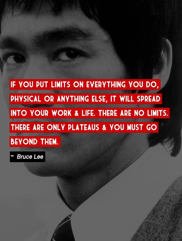 If You Always Put Limits Bruce Lee Quotes
