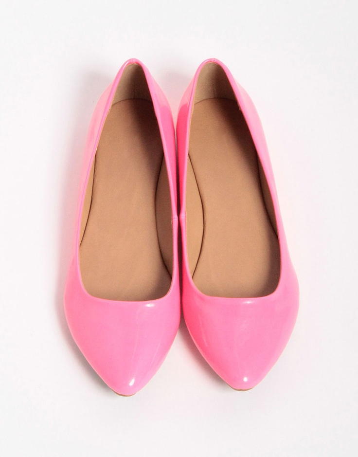 simple pink flats