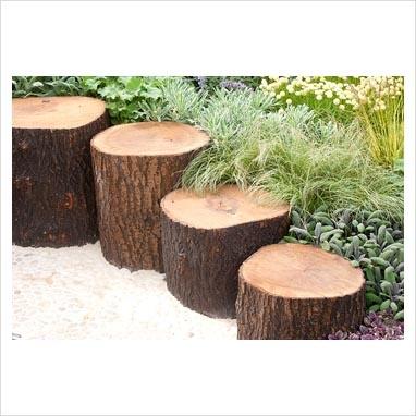 Log edging for garden gardening pinterest for Log garden edging
