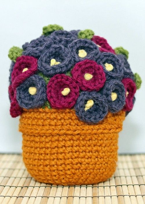 gorgeous blooming crochet bouquet by DelightfulTrifles.