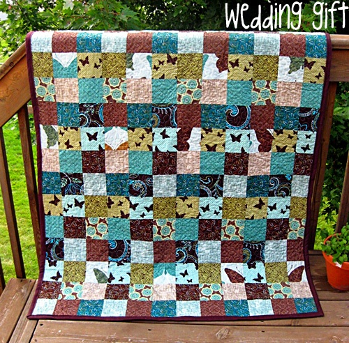 patchwork wedding gift quilt Quilts Pinterest
