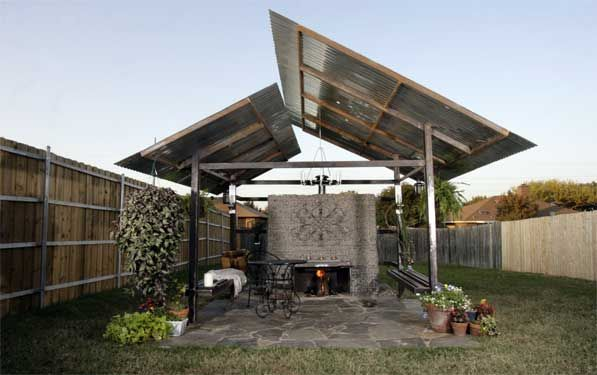 Roof shape davenport outdoor kitchen pinterest for Outdoor kitchen roof structures