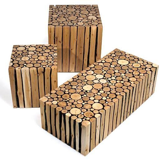 Meubles de salon en bois flott chalet ideas pinterest for Meuble en bois flotte