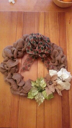 More diy burlap wreath ideas holiday decor ideas pinterest