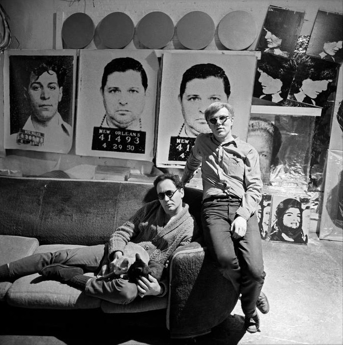 andy warhol in his factory art history pinterest