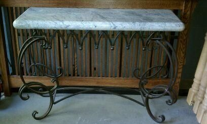 Marble Top Foyer Table furniture