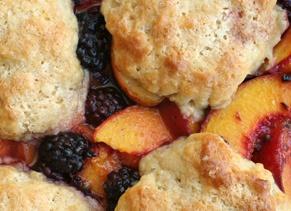 Blackberry-Peach Cobbler with Sour Cream Biscuits Recipe