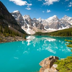 Moraine Lake, Banff National Park.  We spent some of our honeymoon here.  Gorgeous!