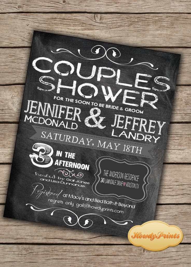 Couples Shower Invitation Bridal Shower Wedding Shower Rustic Wedding