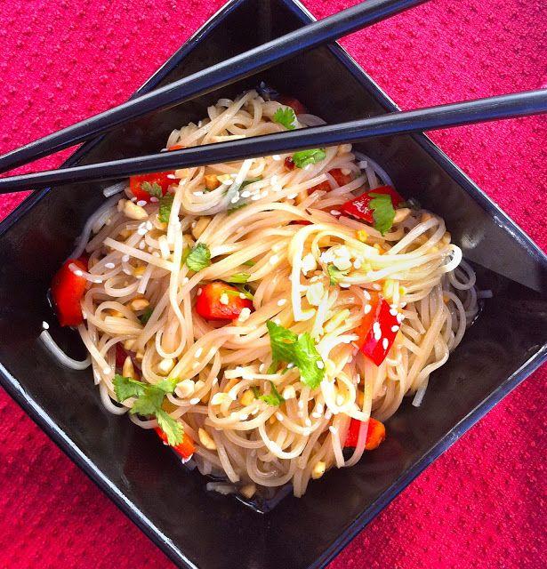 Food That's De!: Sesame and Cilantro Vermicelli Salad