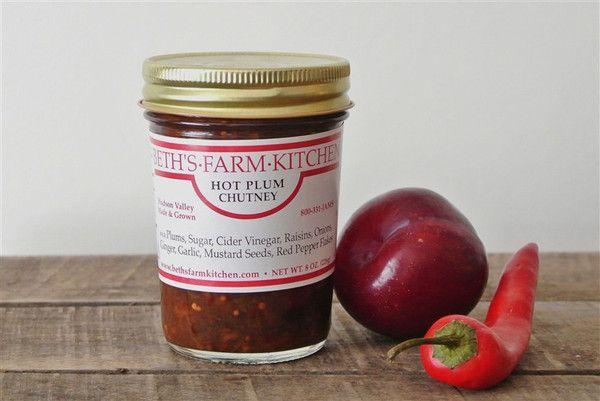 HOT PLUM CHUTNEY (Beth's Farm Kitchen) A top seller! Marinade a pork ...