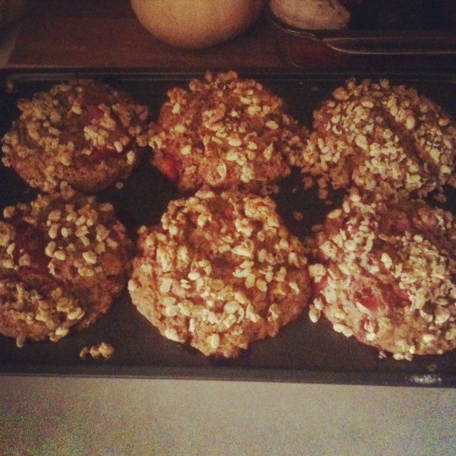 Whole Wheat Strawberry Granola Muffins | Morning Delights! | Pinterest