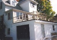 Garage With Deck On Top Side View Lakehouse Pinterest