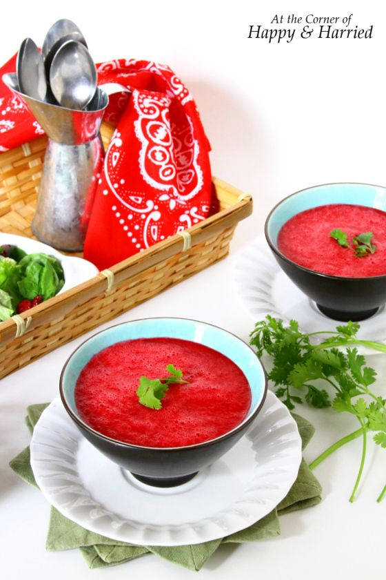 Chilled Beetroot, Tomato & Watermelon Soup