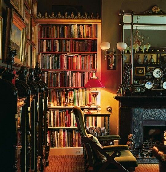 Cozy Library Dreamy Home Libraries Pinterest