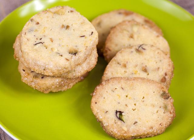 Pistachio-Orange Shortbread Cookies