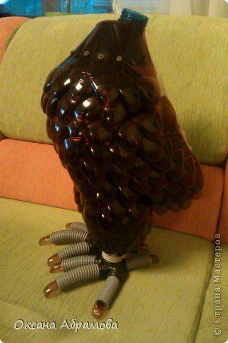 Мастер класс сова из бутылки пластиковой своими руками 666