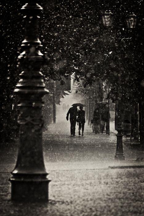 Long walks in the rain... ♥