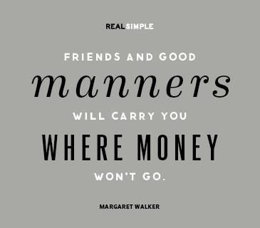 friends and good manners