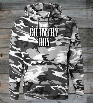 Country Boy Black/White Camo Hoodie #CountryGirl #Hoodies #MensFashion