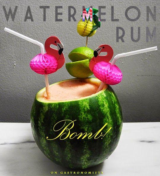 Watermelon Rum Bomb!   Adult Bevrages   Pinterest
