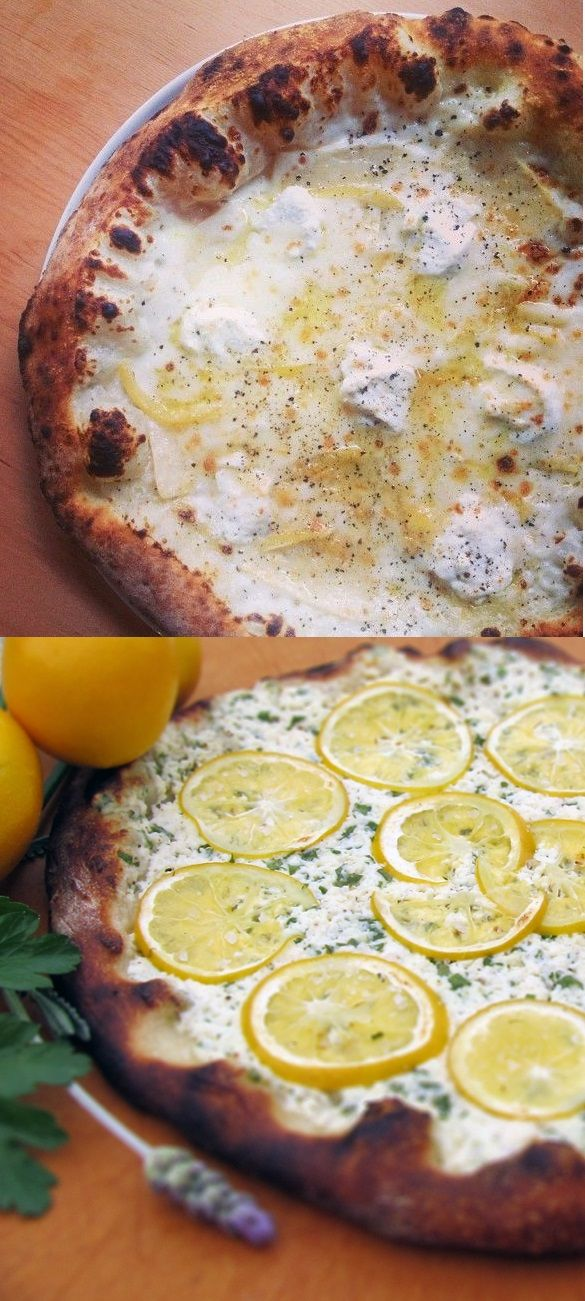 ... lemon-ricotta-pizza-with-herbs-and-honey/ + http://www.rachaelraymag