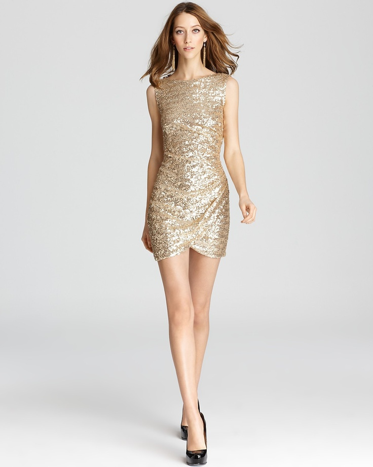 Dress Sequin Bloomingdale 39 S Maybe Too Many Sequins For A Wedding