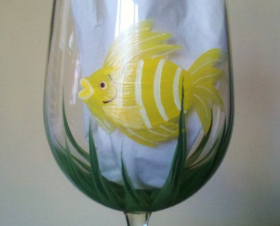 Pin by joanne battista on summer fun pinterest for Painted glass fish