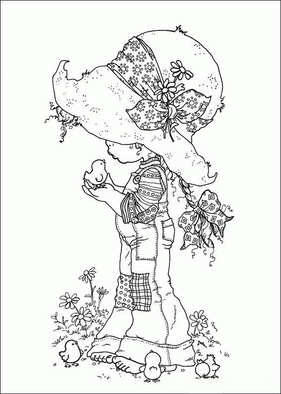 coloring pages of hollyhobbie - photo#8