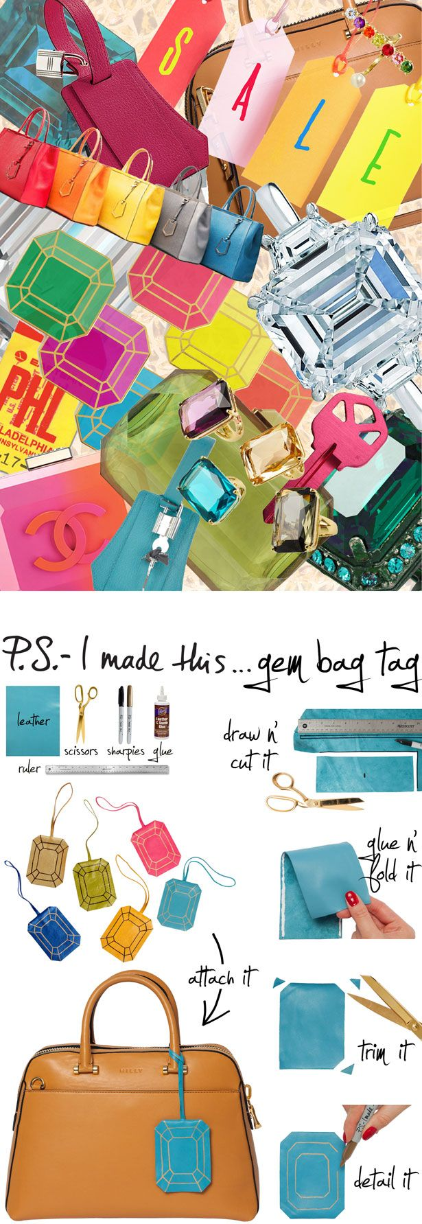 P.S.-I made this...Gem Bag Tag #PSIMADETHIS #DIY