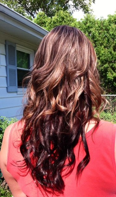Go Back > Gallery For > Chocolate Brown Hair With Auburn Lowlights