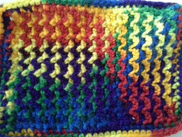 Crochet Dishcloth, variegated yarn My Crochet Pinterest